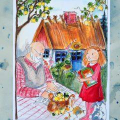 Lærke hjælper bedste af Birthe K. Nielsen