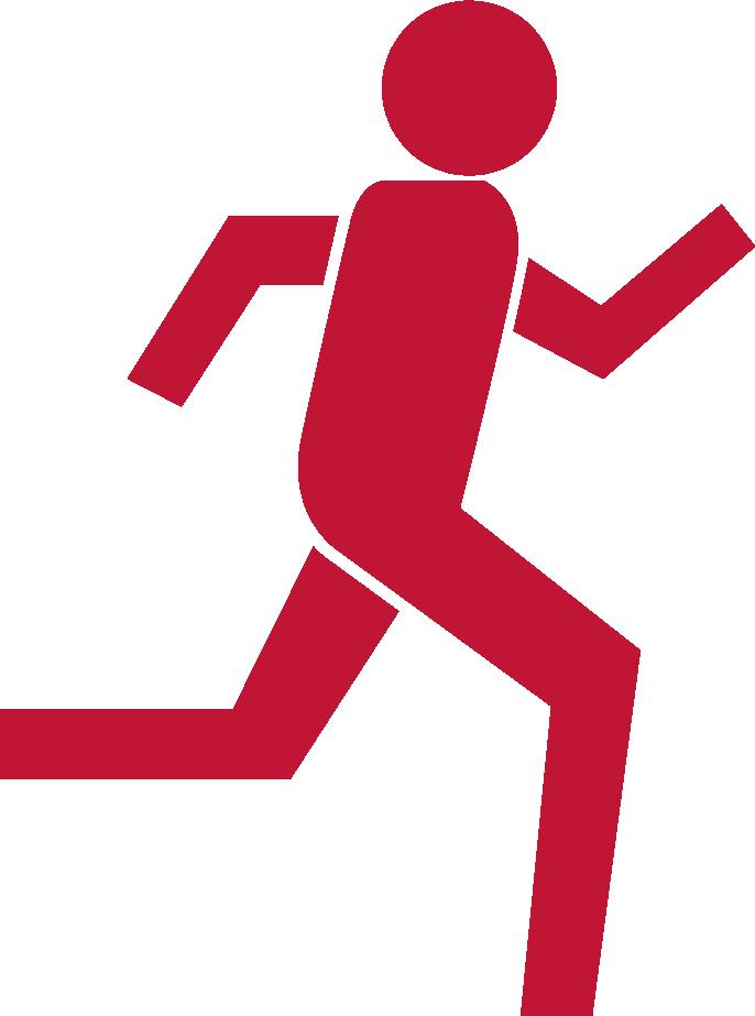 mand der løber motion forebyggelse