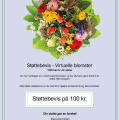 støttebevis blomster virtuel blomsterbuket