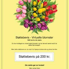 Virtuel blomsterbuket 200 kr. støttebevis