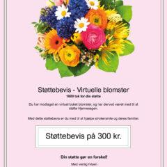 Støttebevis Blomster3